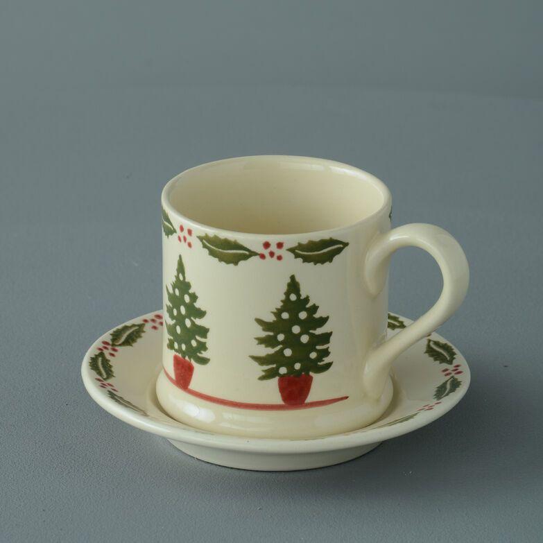 Mug & Saucer Small Christmas Tree