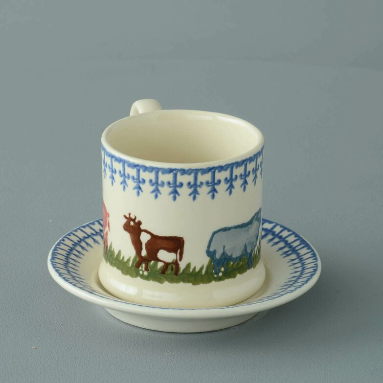 Mug & Saucer Small Farm Animal