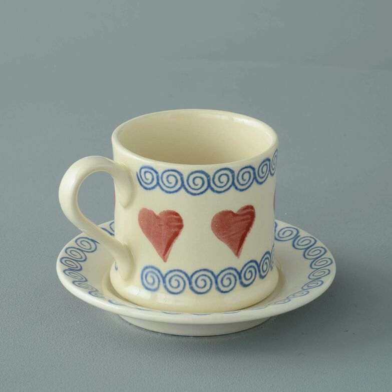 Mug & Saucer Small Heart