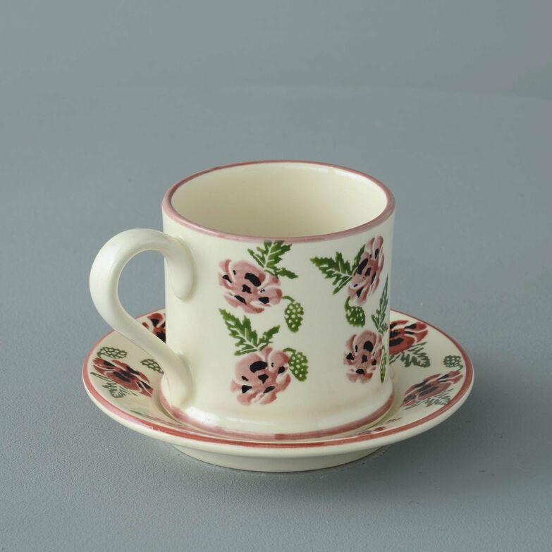 Mug & Saucer Small Poppy