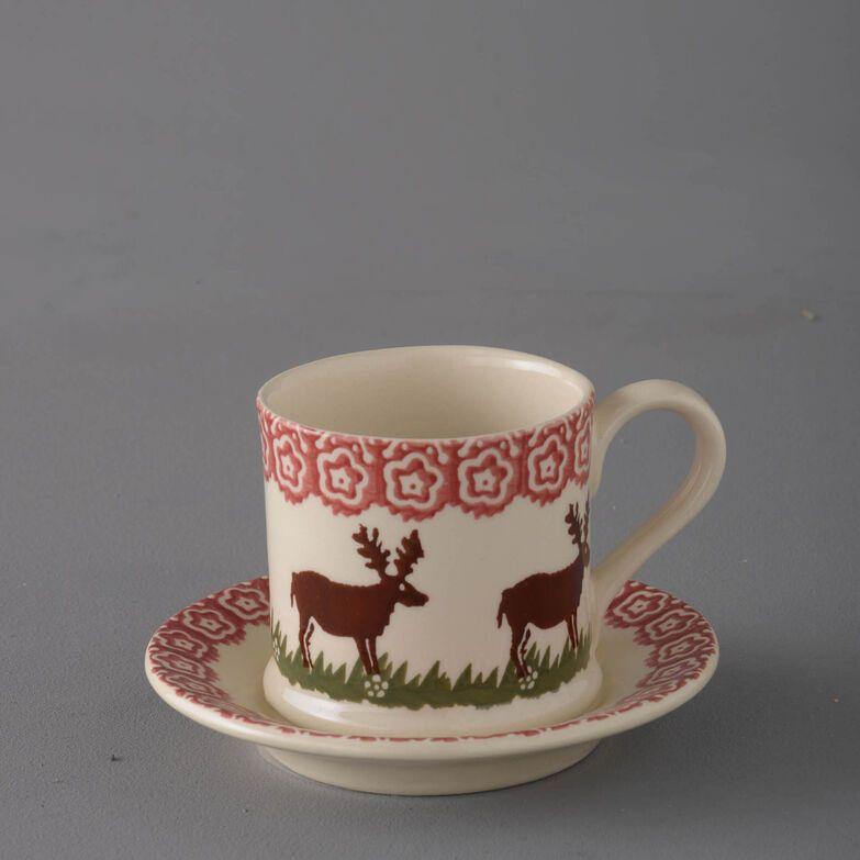 Mug & Saucer Small Reindeer