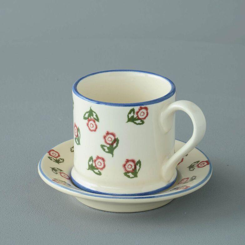 Mug & Saucer Small Scattered Rose