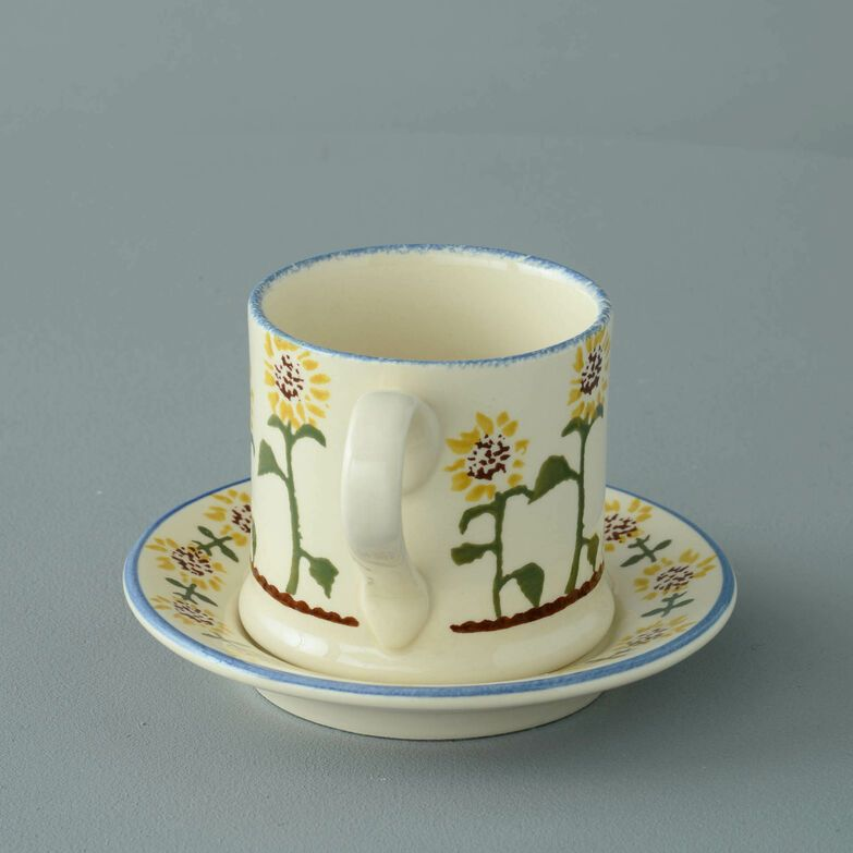 Mug & Saucer Small Sunflower