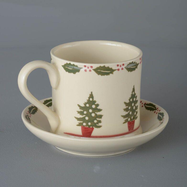 Snack Saucer & Mug Large Christmas Tree