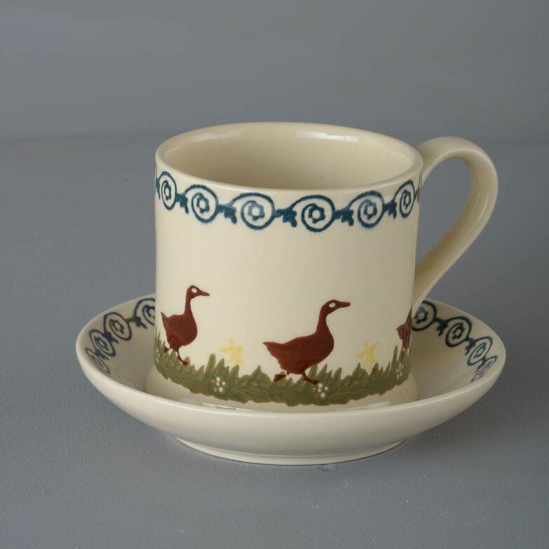 Snack Saucer & Mug Large Duck