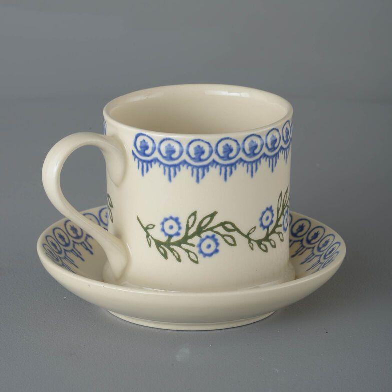 Snack Saucer & Mug Large Floral Garland