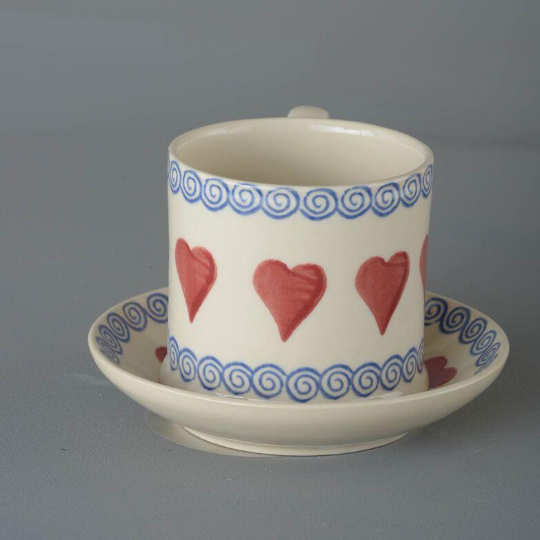 Snack Saucer & Mug Large Heart