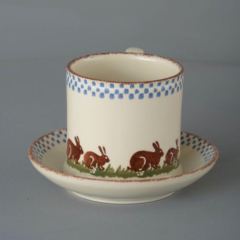 Snack Saucer & Mug Large Rabbit