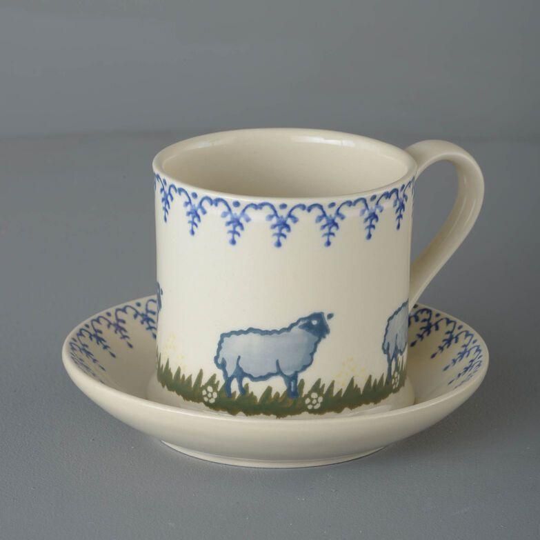 Snack Saucer & Mug Large Sheep