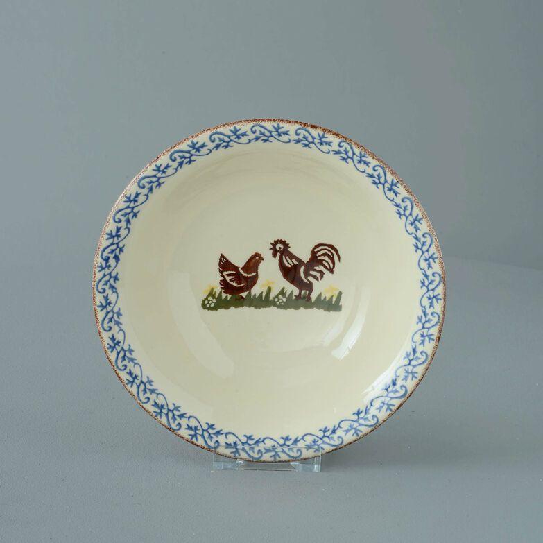 Bowl Porridge Size Cock & Hen