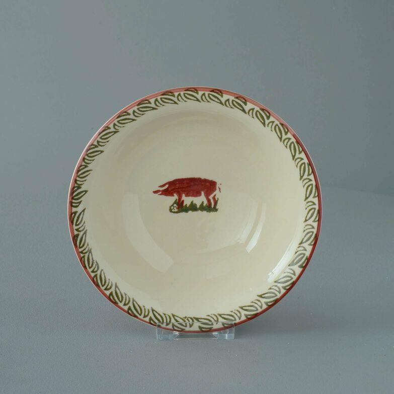Bowl Porridge Size Pink Pig