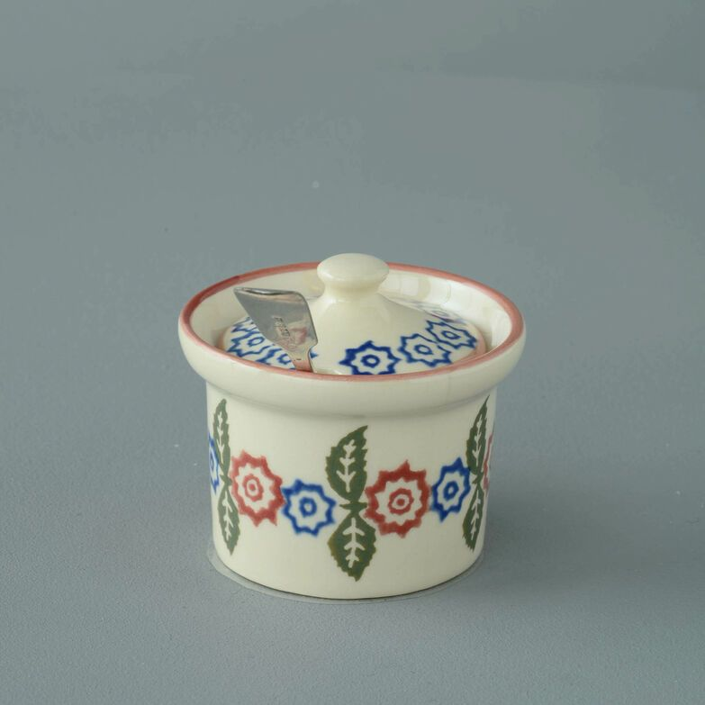 Mustard Pot Small Victorian Floral