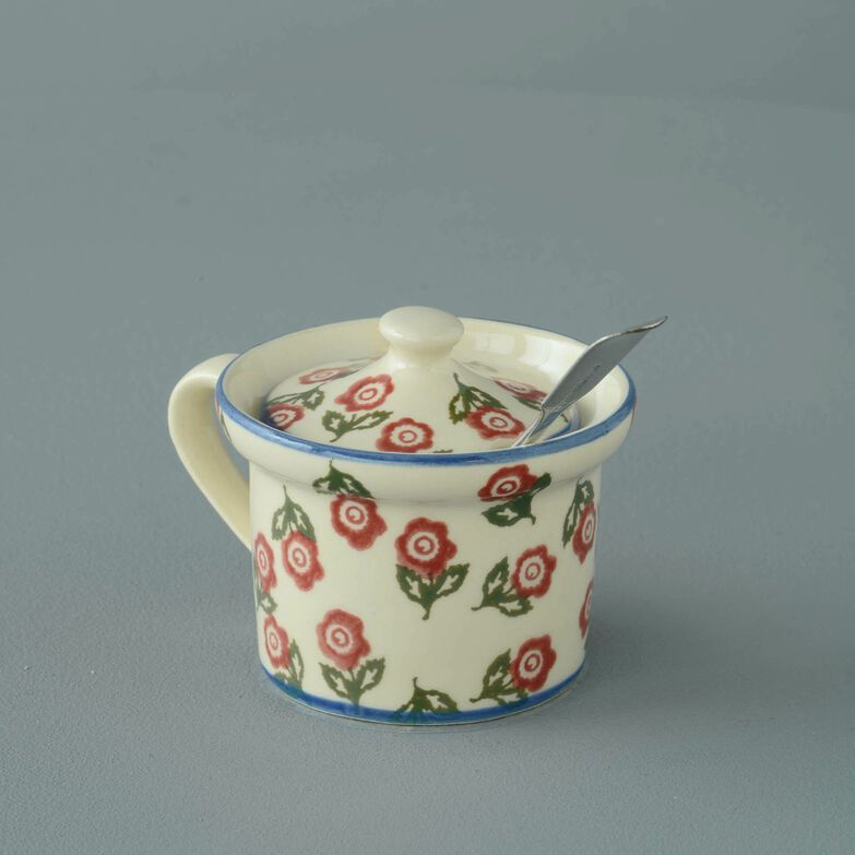 Mustard Pot Small Scattered Rose
