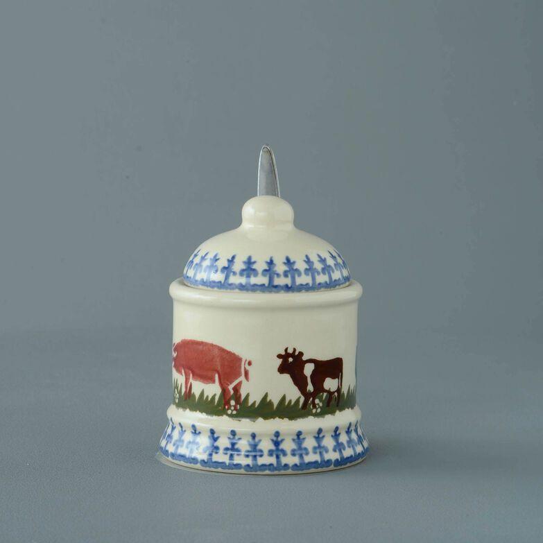 Jam Pot Small Farm Animal