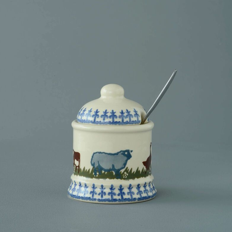 Jam Pot Small Farm Animal