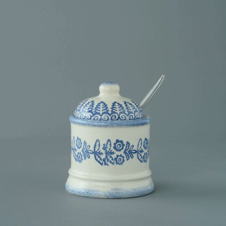 Jam Pot Small Lacey Blue