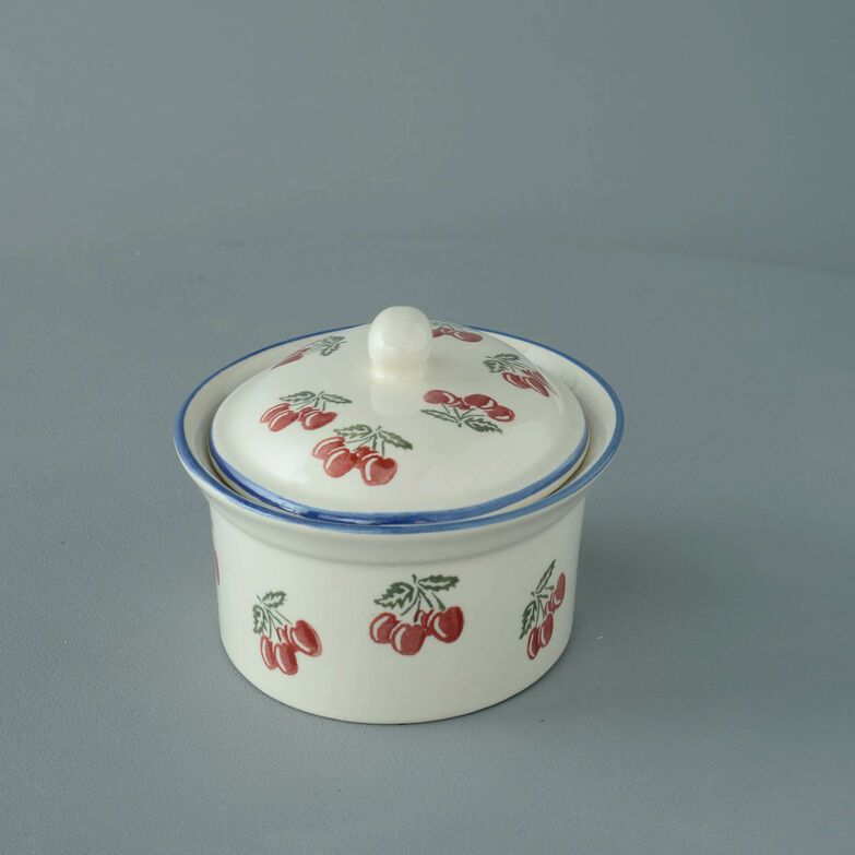 Butter dish oval Medium Cherry