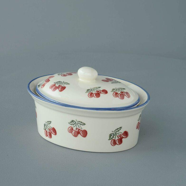 Butter dish oval Medium Cherry