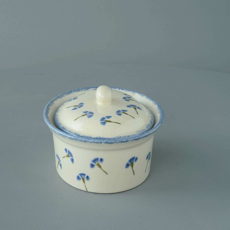 Butter dish oval Medium Cornflower