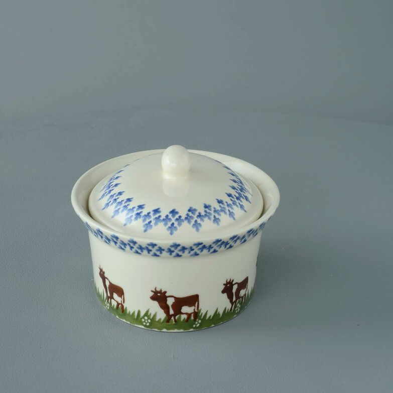 Butter dish oval Medium Cow