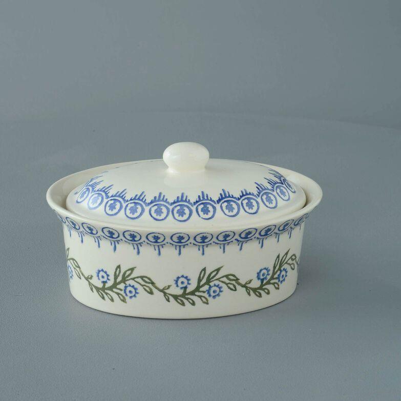 Butter dish oval Medium Floral Garland