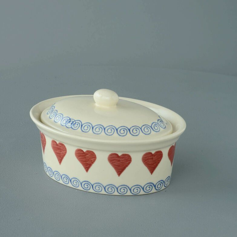 Butter dish oval Medium Heart