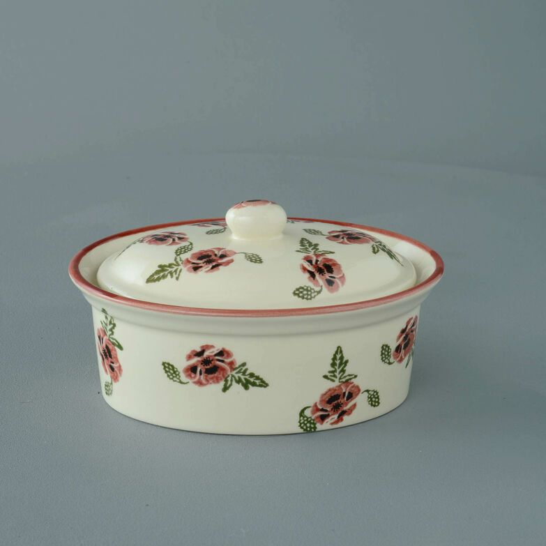 Butter dish oval Medium Poppy