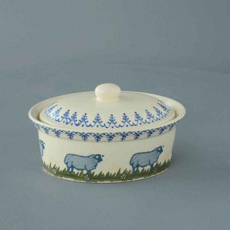 Butter dish oval Medium Sheep