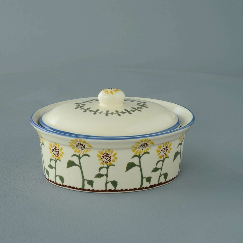 Butter dish oval Medium Sunflower