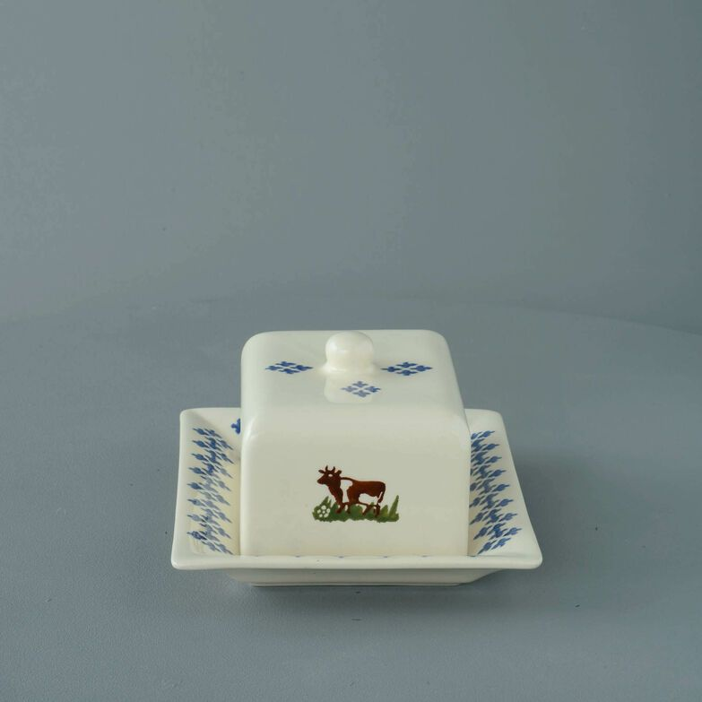 Cheese Dish Rectangular Medium Cow