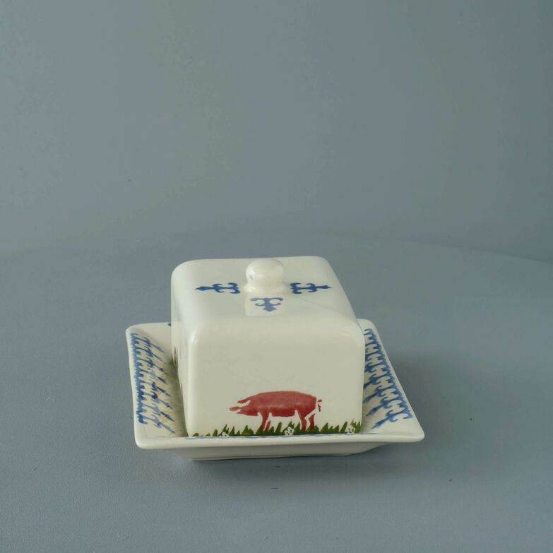 Cheese Dish Rectangular Medium Farm Animal
