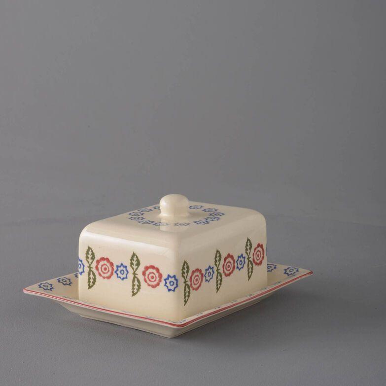 Cheese Dish Rectangular Medium Victorian Floral