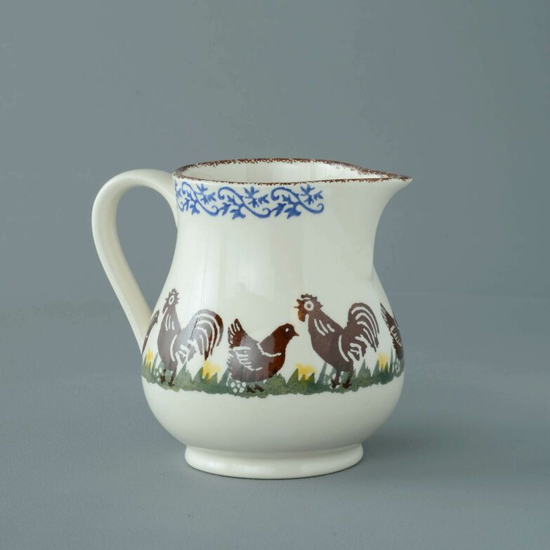 Jug Medium Cock & Hen