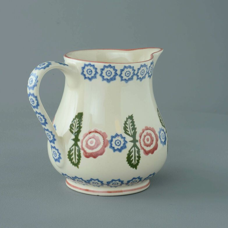 Jug Milk Victorian Floral