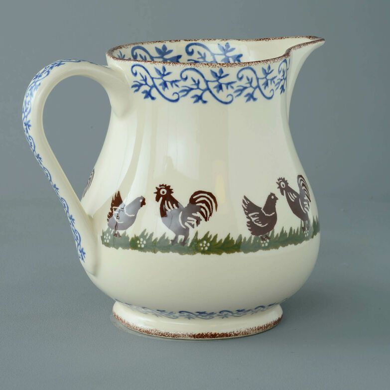 Jug Serving Cock & Hen