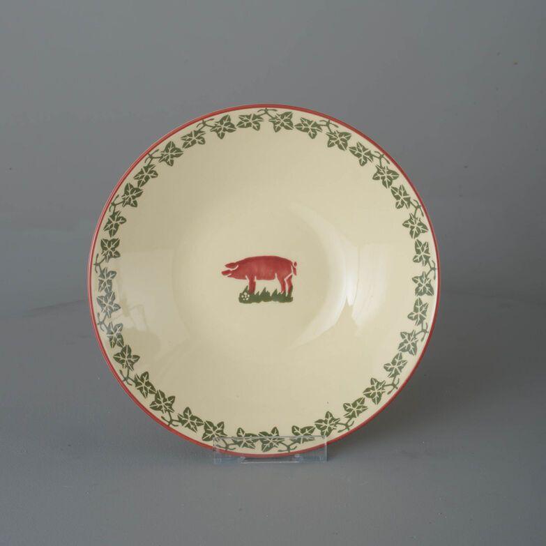 Pasta plate  Pink Pig