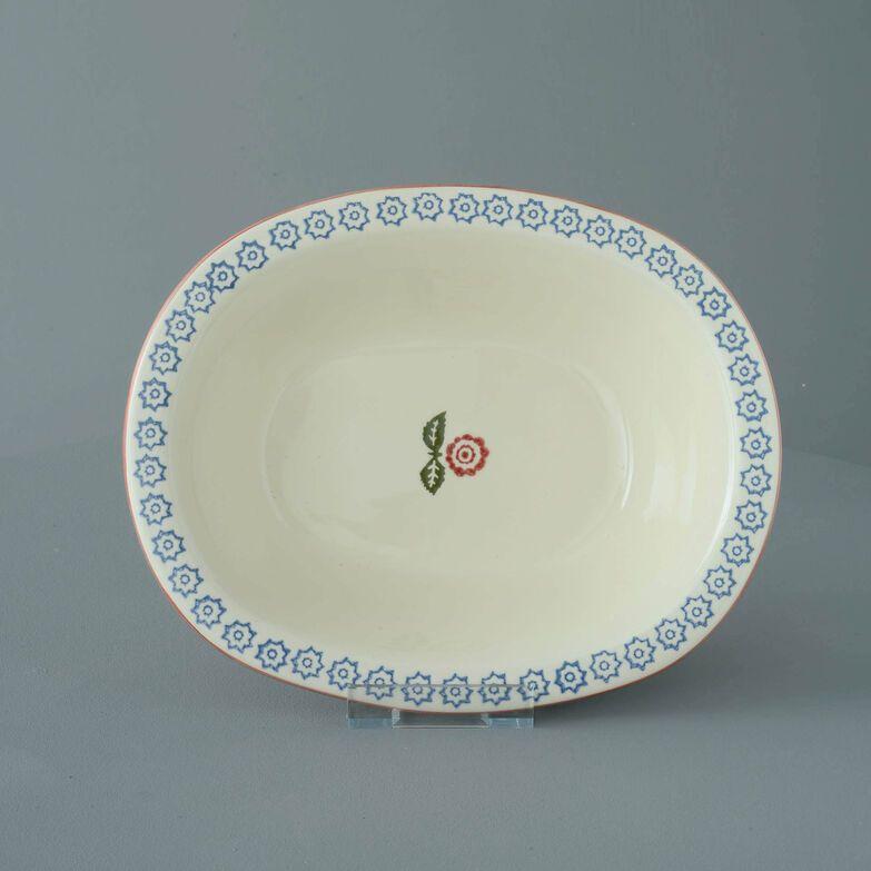 Pie Dish Large Victorian Floral