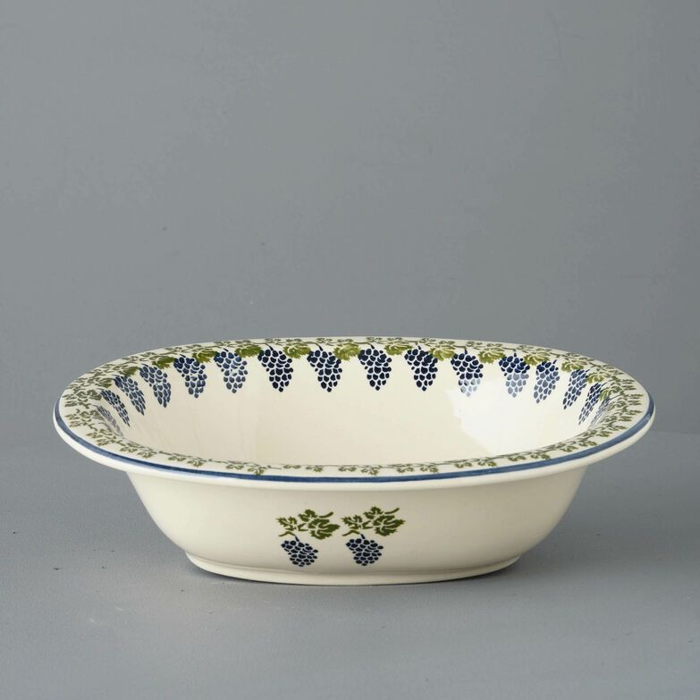 Pie Dish Large Grapes And Vine