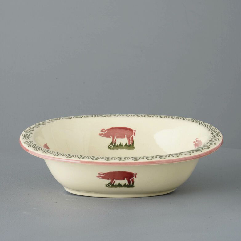 Pie Dish Large Pink Pig