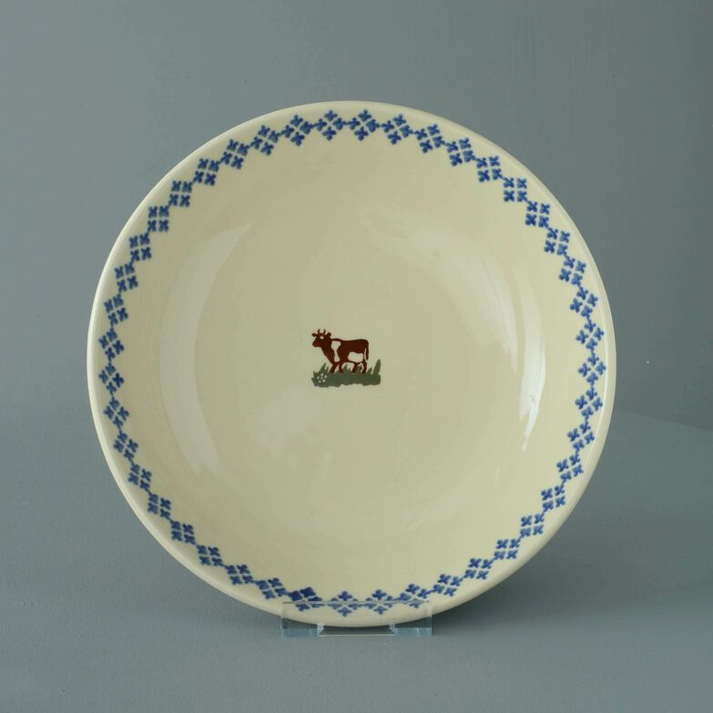 Serving Dish Round Large Cow