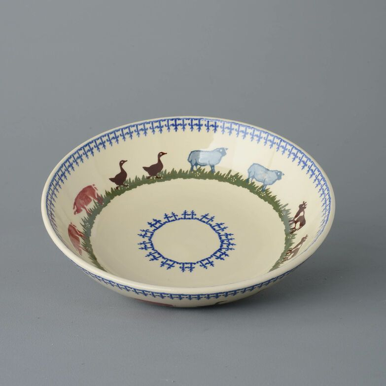 Serving Dish Round Large Farm Animal
