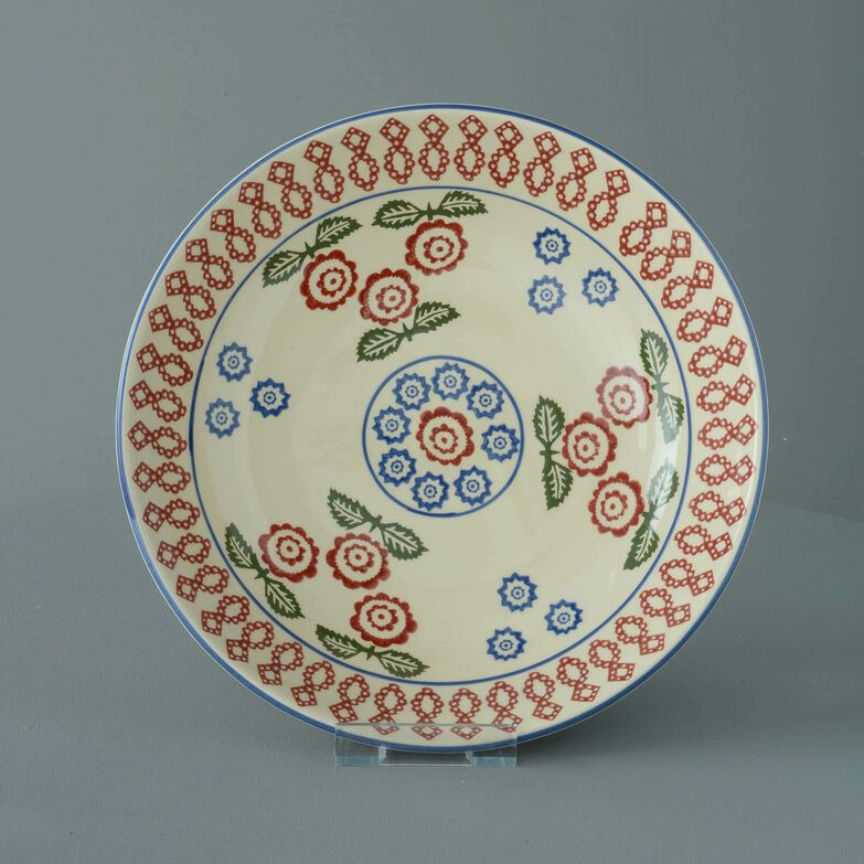 Serving Dish Round Large Victorian Floral