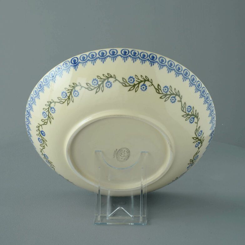 Serving Dish Round Large Floral Garland