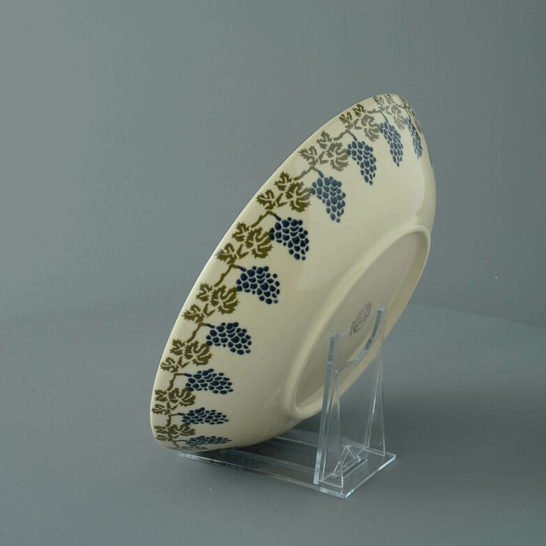 Serving Dish Round Large Grapes And Vine
