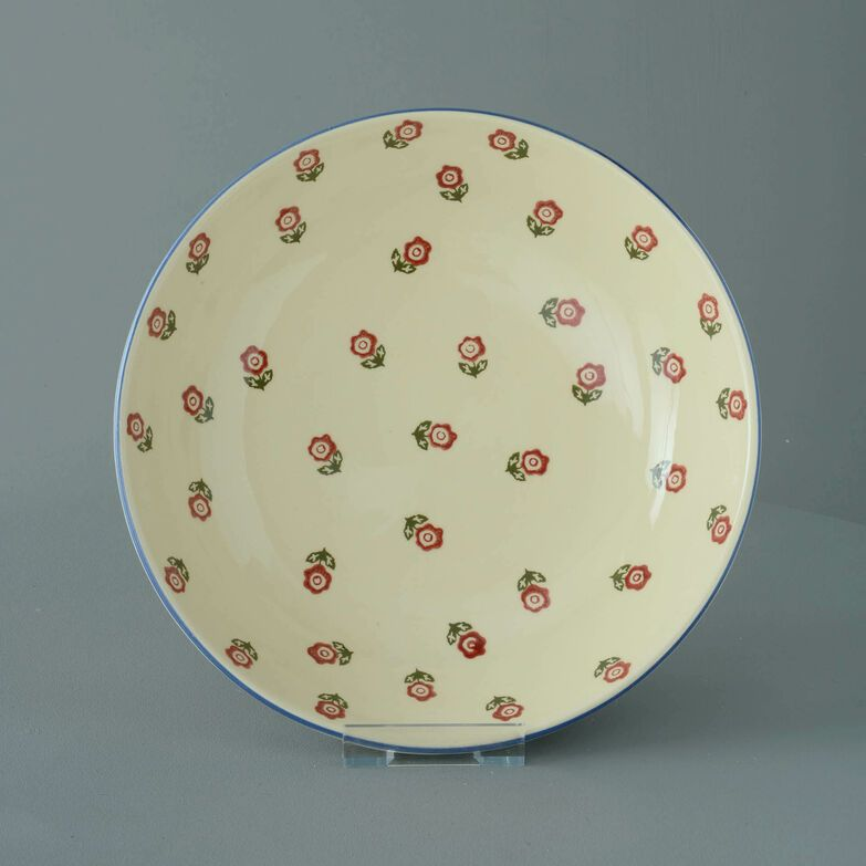 Serving Dish Round Large Scattered Rose