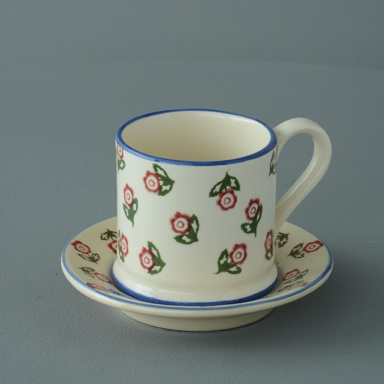 Saucer Small Scattered Rose