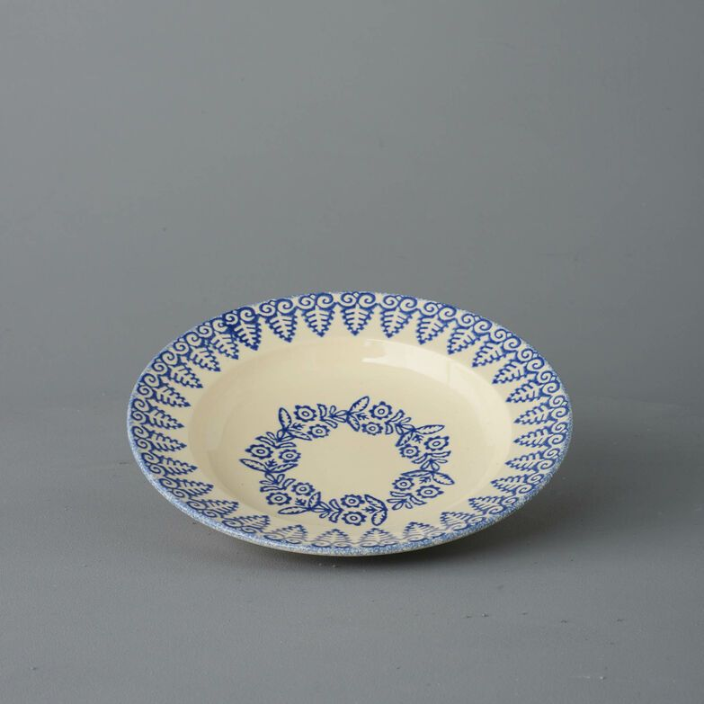 Soup Plate Medium Lacey Blue