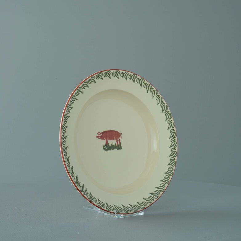 Soup Plate Medium Pink Pig