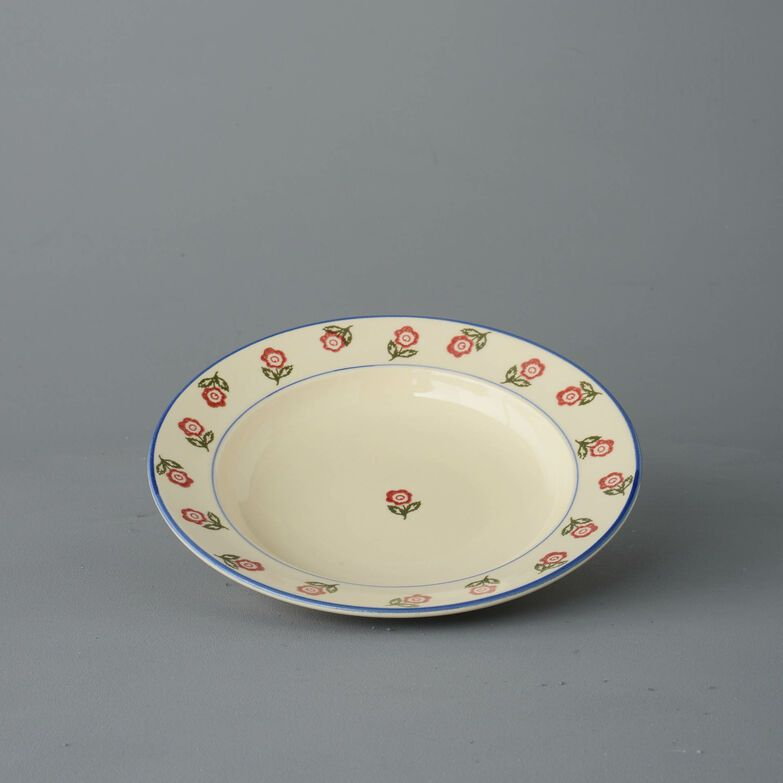 Soup Plate Medium Scattered Rose