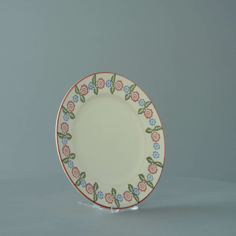Plate Dessert Size Victorian Floral
